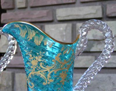 Art nouveau cristal couleur