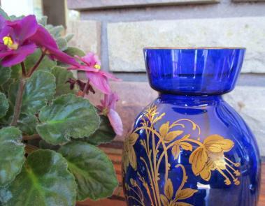 Art nouveau vase cristal