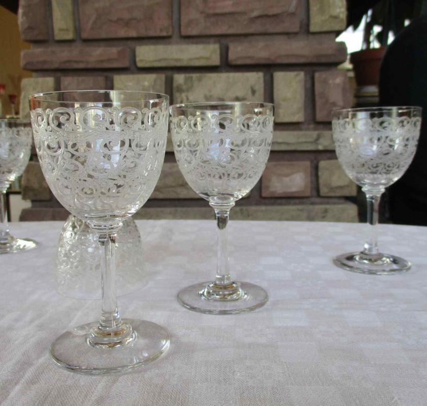 Verre baccarat cristal service combourg - Verres baccarat anciens ...