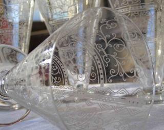 Baccarat verre conique cristal