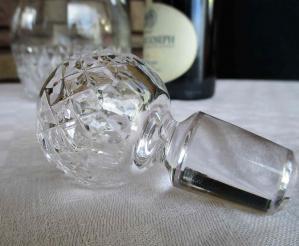 Bouchon de carafe en cristal saint louis