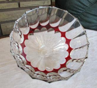 Bowls crystal st louis overlay red