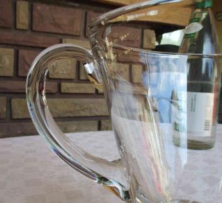 Broc eau ancien cristal
