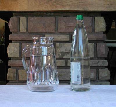 Broc eau spear verre baccarat