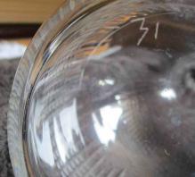 Carafe cristal ancienne numero