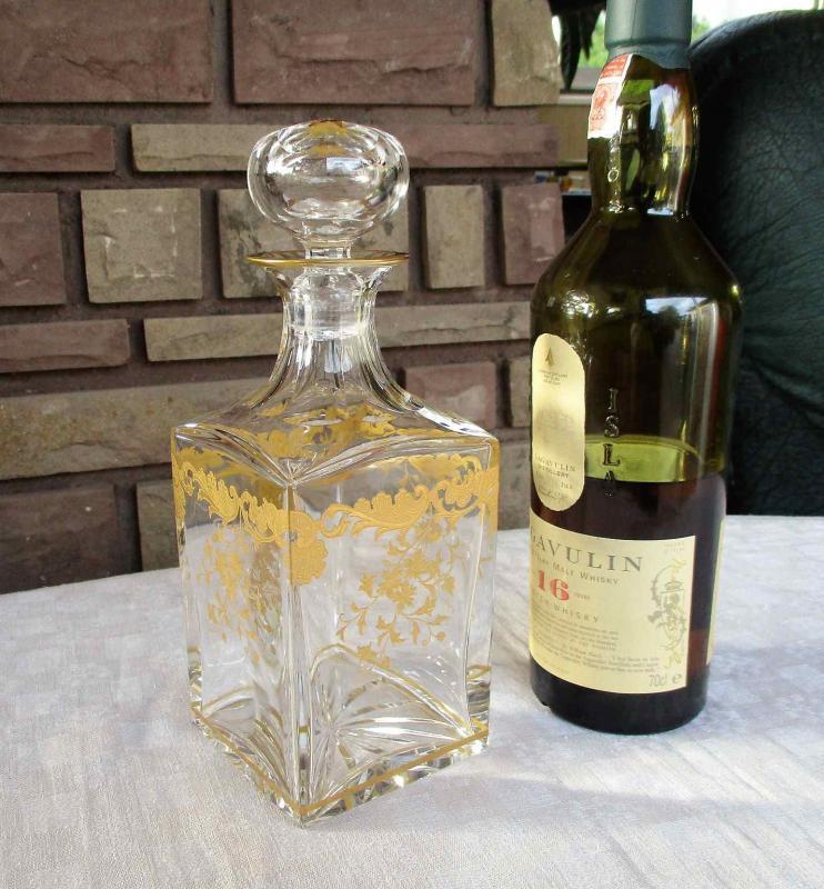 verre en cristal de saint louis service massenet or gold. Black Bedroom Furniture Sets. Home Design Ideas