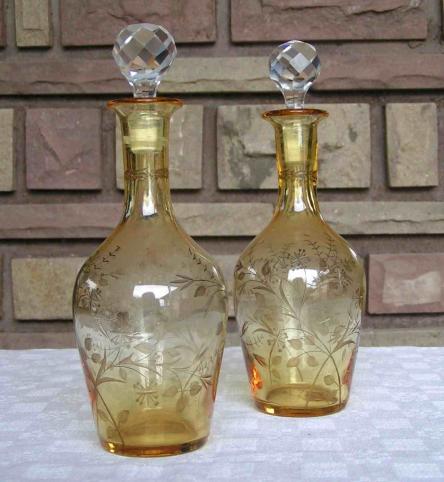 Verres en cristal de saint louis service mousseline ambr - Cristal st louis ancien ...