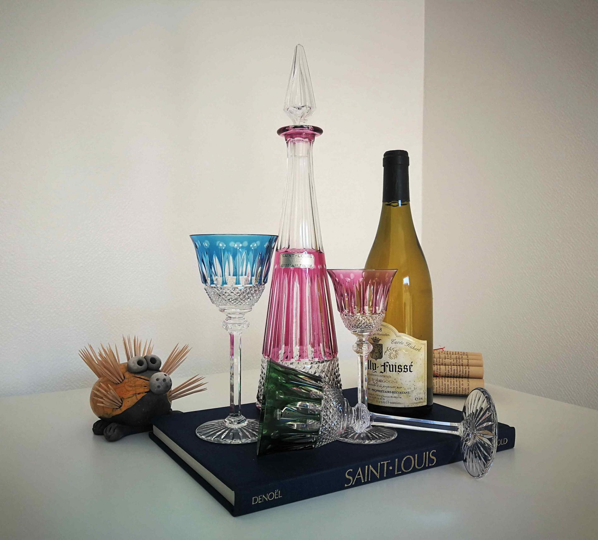 Carafe à vin du Rhin Tommy. Saint Louis cristal