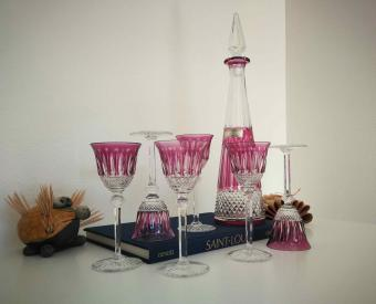 Carafe verres tommy couleurs cristal