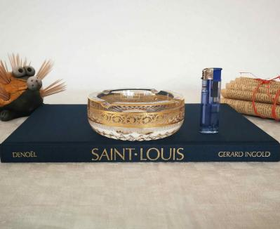 Cendrier thistle saint louis cristal