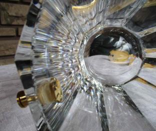 Cote plate cristal baccarat