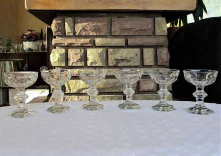 Coupes harcourt champagne baccarat