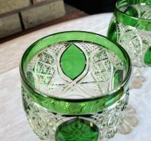 Cristal baccarat verre vert roemer