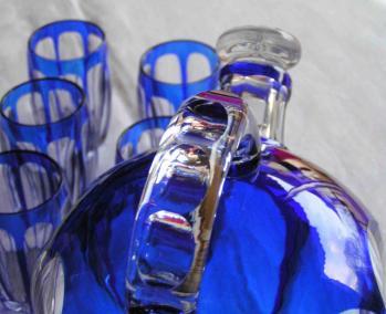 Cristal couleur overlay st louis