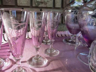 Cristal couleur verre ancien