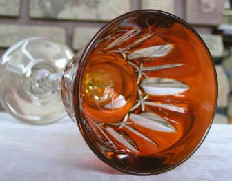 Cristal double couleur orange