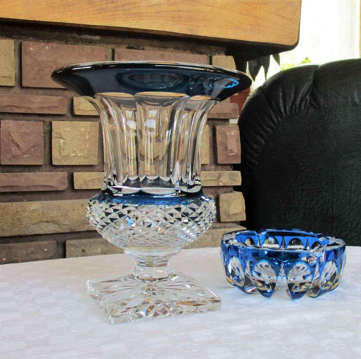 Vase Versailles, cristal de Saint Louis