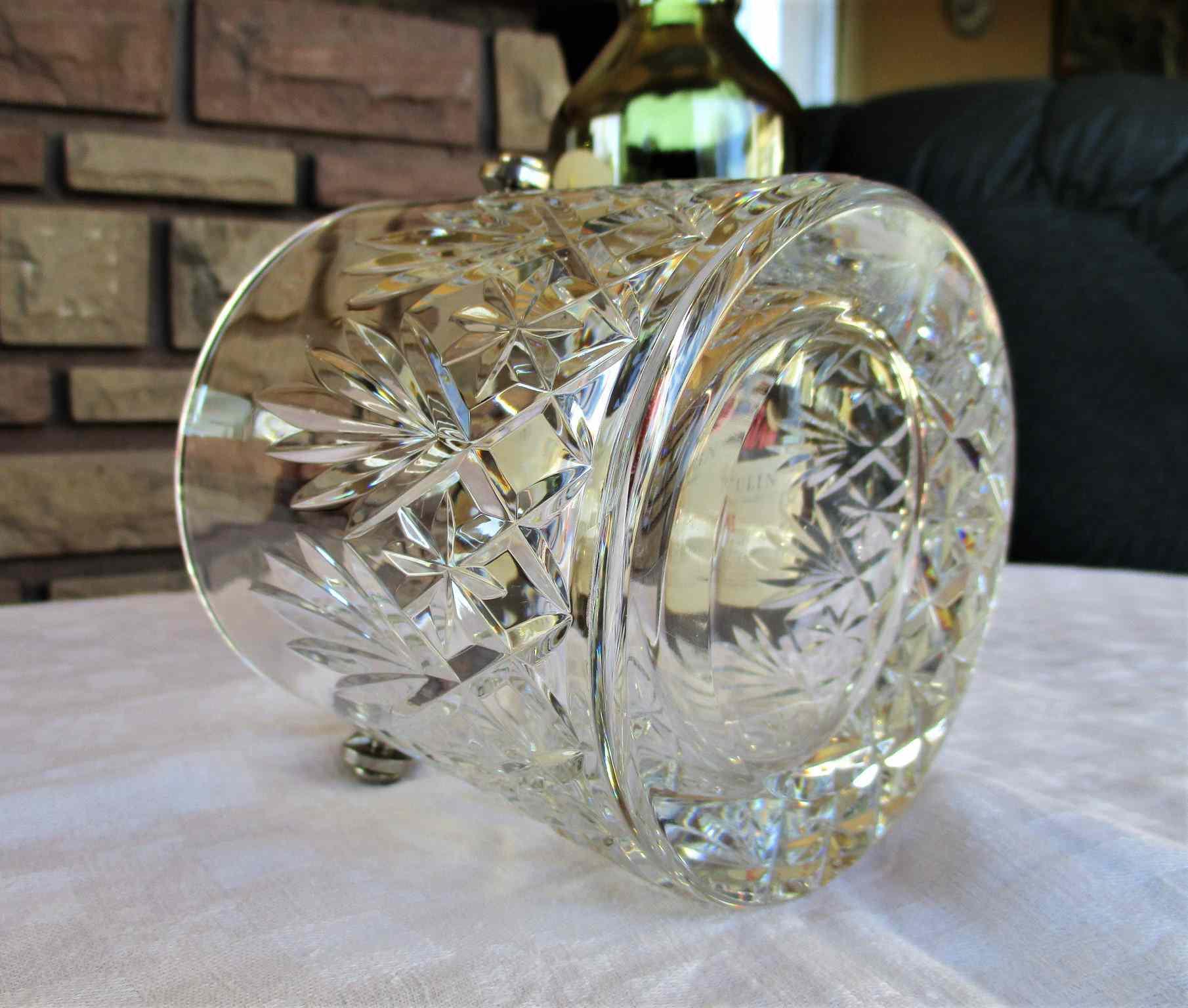 Seau à glace / glaçons Massenet, cristal St Louis