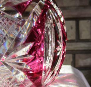 Cristal taille overlay 1930 saint louis