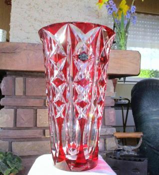 Deauville saint louis cristal rouge