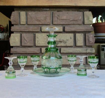 Ensemble liqueur trianon st louis vert