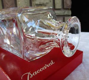 Flacon carre whisky cristal baccarat
