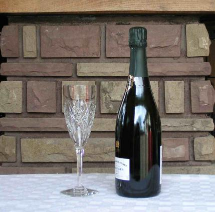 Flute champagne auvergne baccarat cristal