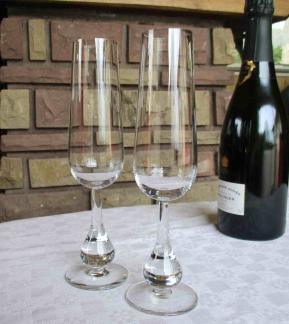 Flute pavot champagne baccarat cristal