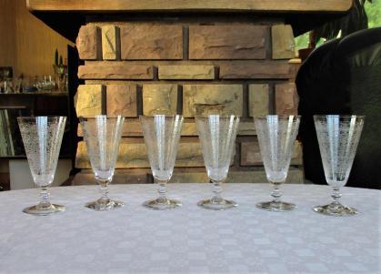 Flutes baccarat cristal ancienne