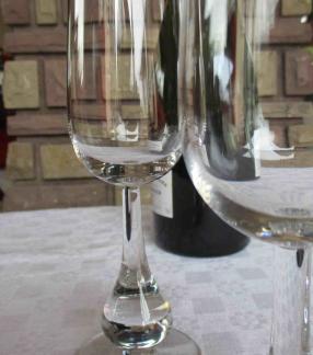 Flutes baccarat cristal clair