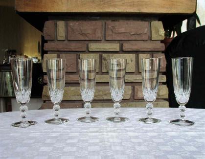 Flutes champagne saint louis orly cristal