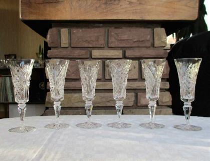Flutes champagne vologne cristal saint louis
