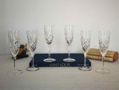 Flutes chantilly cristal saint louis