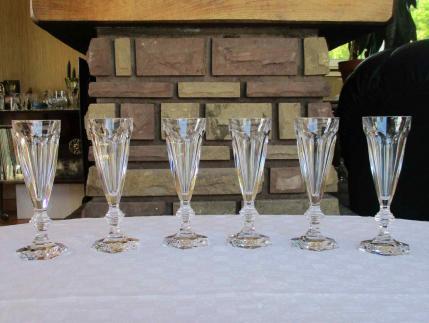 Flutes harcourt cristal de baccarat
