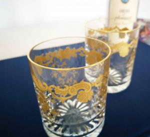 Glasses massenet gold crystal