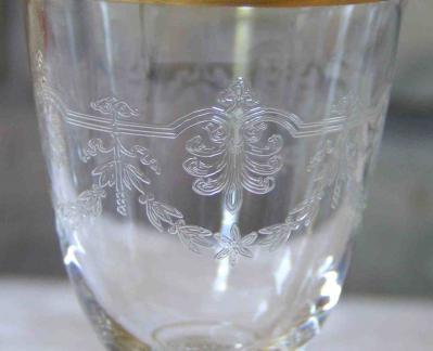 Gravure arabe beauharnais baccarat cristal