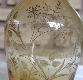 Gravure roue 1900 cristal verre