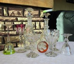 Harcourt baccarat verres roemers carafe