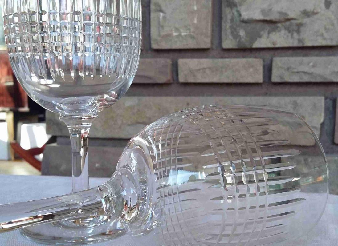 Verres cristal de baccarat service nancy - Cristal de baccarat ancien ...