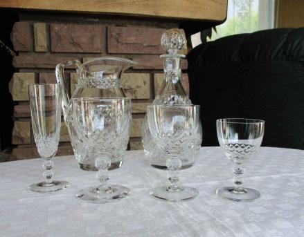 Orly cristal saint louis service verres