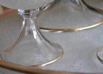 Pied cloche cristal venise 1900