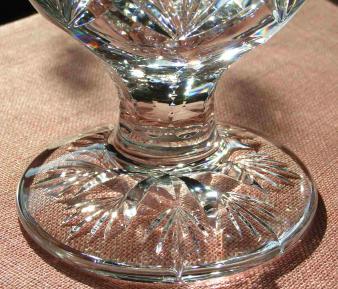 piedouche cristal verre saint louis