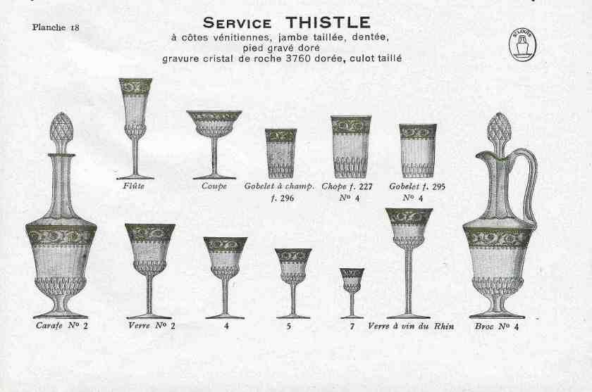 Verres en cristal ancien - Ordre des verres a table ...