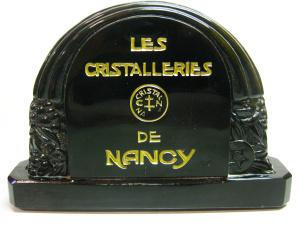 Presentoir en cristal noir des cristalleries de nancy