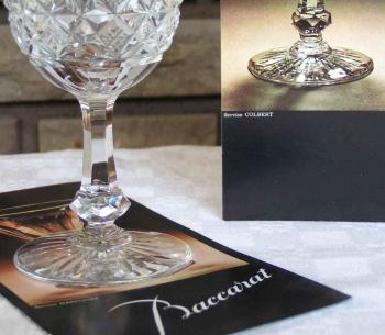 Publicite baccarat colbert verre vin