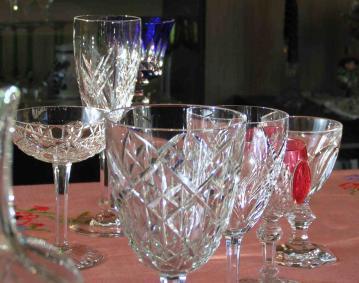 Reassortiment verres cristal