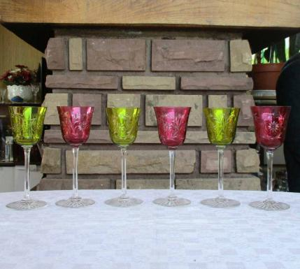 Roemer baccarat chartreuse rose