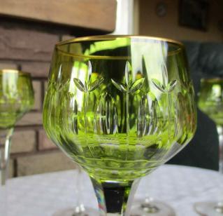 Roemer jaune chartreuse cristal st louis