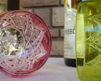 Roemer rose rouge baccarat cristal