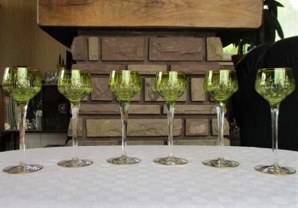 Roemers verres a vin du rhin cristal